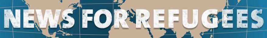 Nachrichten für Flüchtlinge auf Englisch