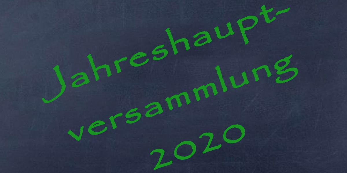 Einladung zur Jahreshauptversammlung 2020