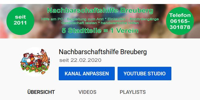 Nachbarschaftshilfe Breuberg startet eigenen YouTube Kanal